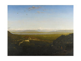 View of Mont Blanc, Seen from La Faucille, C.1865 Giclee Print by Theodore Rousseau