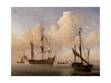 Meerespanorama (Doppeldruck) Giclée-Druck von Willem Van De Velde The Younger