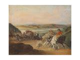 The Road from Santiago to Valparaiso Giclee Print by Johann Moritz Rugendas