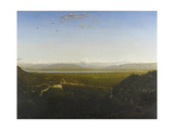 View of Mont Blanc, See from La Faucille, C.1865 Giclee Print by Pierre Etienne Theodore Rousseau
