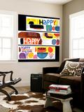 """Happy Collage,"" December 28, 1968 Carta da parati decorativa"