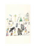 Untitled - New Yorker Cartoon Premium Giclee Print by Saul Steinberg