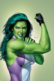 She-Hulk No.9 Cover: She-Hulk Print by Mike Mayhew
