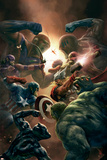 New Avengers No.43 Cover: Captain America, Thor and Black Panther Posters