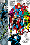 Giant-Size Avengers No.1 Group: Thor, Captain America, Hawkeye, Black Panther and Vision Poster van John Buscema