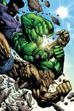 Hulk: Destruction No.4 Cover: Abomination and Hulk Pósters por Jim Muniz