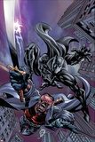 Black Panther No.12 Cover: Black Panther and Blade Poster von Scot Eaton