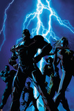 Dark Avengers No.1 Cover: Iron Patriot and Ms. Marvel Plakater af Mike Deodato
