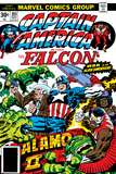 Captain America And The Falcon No.203 Cover: Captain America, Falcon, Marvel Comics and Thor Affiche par Jack Kirby