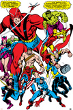 Giant-Size Avengers No.1 Group: Giant Man Láminas por John Buscema