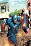 Marvel Adventures Super Heroes No.8 Cover: Captain America Foto di Clayton Henry