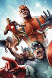 Avengers vs. Atlas No.2 Group: Captain America, Thor, Iron Man, Wasp and Giant Man Affiches par Gabriel Hardman