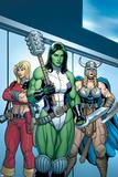 Hulk No.7 Group: She-Hulk, Valkyrie and Thundra Pôsters por Arthur Adams