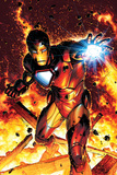 Invincible Iron Man No.2 Cover: Iron Man Plakater af Brandon Peterson