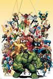 Avengers Classics nr. 1 cover: Hulk met andere superhelden Foto van Arthur Adams
