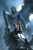 Moon Knight No.26 Cover: Punisher and Moon Knight Poster di Gabriele DellOtto