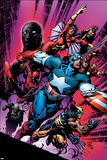 New Avengers No.12 Cover: Captain America Prints by David Finch