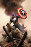 Captain America Theater Of War: America The Beautiful No.1 Cover: Captain America Poster by Steve Epting
