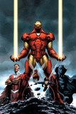 Iron Man No.84 Cover: Iron Man, Falcon, Black Panther, Wasp, Ant-Man and Avengers Poster von Steve Epting