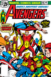 Avengers No.148 Cover: Iron Man, Captain America, Hyperion, Thor, Avengers and Squadron Supreme Affiches par George Perez