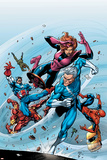 Marvel Adventures The Avengers No.19 Cover: Quicksilver Prints by Tom Grummett