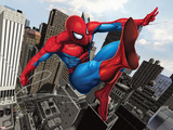Spider-Man Swinging In the City Poster