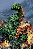Incredible Hulk No.74 Cover: Hulk and Iron Man Plakater af Mike Deodato