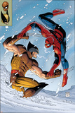 What If Spider-Man Vs. Wolverine No.1 Cover: Spider-Man and Wolverine Affischer av John Romita Jr.