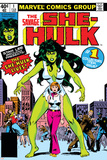 Hulk Family: Green Genes No.1 Cover: She-Hulk, Walters and Jennifer Posters av John Buscema