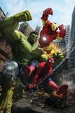 Marvel Adventures Iron Man Special Edition No.1 Cover: Iron Man, Hulk and Spider-Man ポスター : フランシスコ・ルイズ・ヴァラスコ