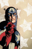 New Avengers No.61 Cover: Captain America Plakater av Stuart Immonen