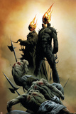 Ghost Riders: Heavens On Fire No.1 Cover: Ghost Rider Plakater av Jae Lee