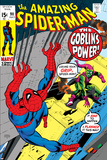 The Amazing Spider-Man No.98 Cover: Green Goblin and Spider-Man Fighting Posters by Gil Kane