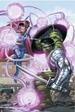 World War Hulk No.4 Cover: Hulk and Dr. Strange Bilder av John Romita Jr.
