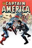 Captain America No.14 Cover: Captain America and Bucky Poster von Steve Epting