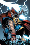 Avengers: The Initiative No.21 Cover: Thor Print by Humberto Ramos