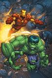 Marvel Team-Up No.4 Cover: Hulk and Iron Man Prints by Scott Kolins