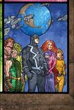 Secret Invasion: Inhumans No.4 Group: Black Bolt, Medusa, Karnak, Gorgon, Crystal and Triton Plakater av Tom Raney