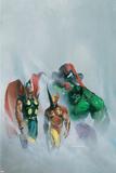 Secret War V1 No.1 Group: Wolverine, Thor, Hulk and Spider-man Plakater