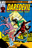 Daredevil No.165 Cover: Daredevil and Doctor Octopus Crouching Photo by Frank Miller