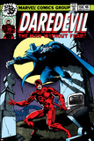 Daredevil No.158 Cover: Daredevil and Death-Stalker Print van Frank Miller
