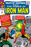 Tales Of Suspense No.56 Cover: Iron Man and Unicorn Fighting Poster by Don Heck