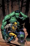 Incredible Hulk No.80 Cover: Wolverine and Hulk Prints by Lee Weeks