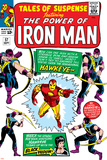 Tales Of Suspense No.57 Cover: Iron Man, Hawkeye and Black Widow Poster af Don Heck