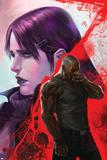New Avengers No.38 Cover: Cage, Luke, Jones and Jessica Plakat