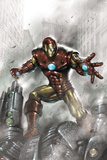Indomitable Iron Man No.1 Cover: Iron Man Posters by Lucio Parrillo