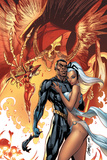 Black Panther No.5 Cover: Black Panther and Storm Posters av J. Scott Campbell