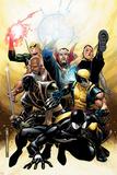 New Avengers Annual No.2 Cover: Spider-Man, Wolverine, Ronin and Dr. Strange Bilder av Jim Cheung