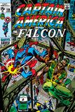 Captain America & The Falcon No.13 Cover: Captain America, Falcon and Spider-Man Poster by John