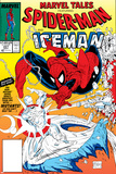 Marvel Tales: Spider-Man No.227 Cover: Spider-Man and Iceman Fighting Poster by Todd McFarlane